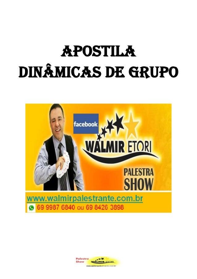 APOSTILA DINÂMICAS DE GRUPO