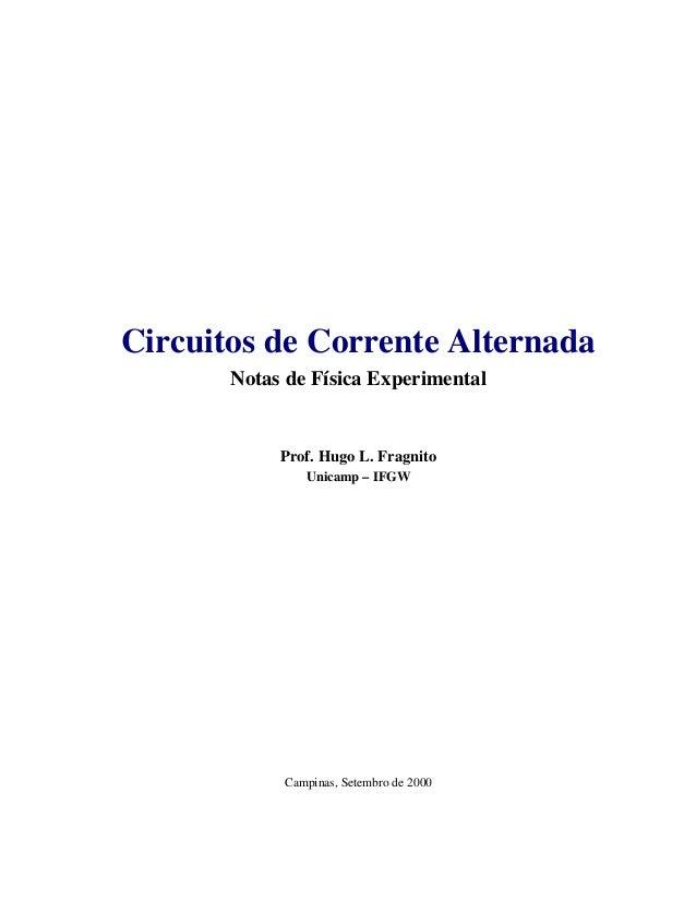 Circuito Corrente Alternada : Apostila de elétrica circuito ca