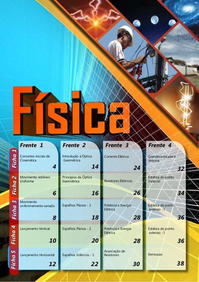 Ficha 5 Ficha 4 Ficha 3 Ficha 2 Ficha 1  Frente 1 Frente 2 Frente 3 Frente 4  Conceitos iniciais de  Cinemática  4  Introd...