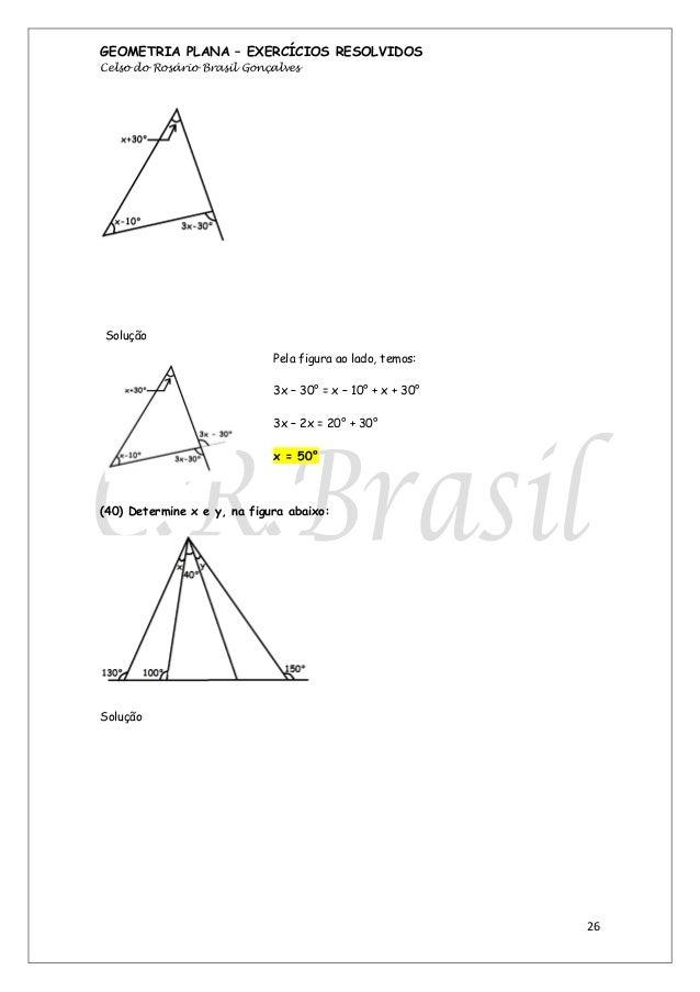 Apostila de geometria plana exercícios resolvidos - crbrasil