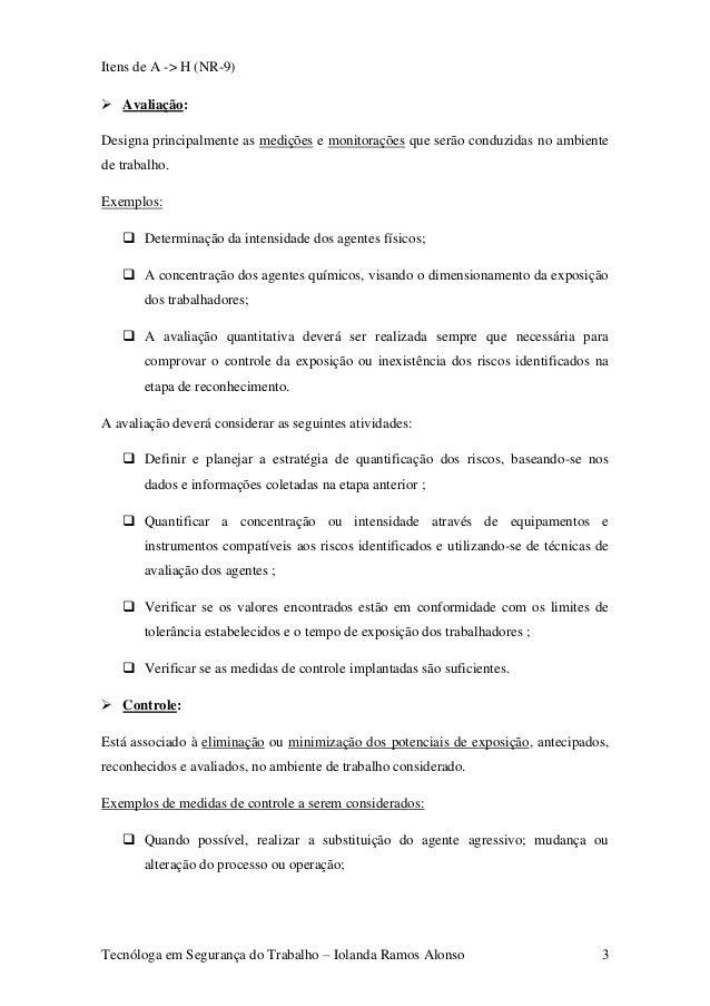 Tecnóloga em Segurança do Trabalho – Iolanda Ramos Alonso 2  3. 83b3ba2a69