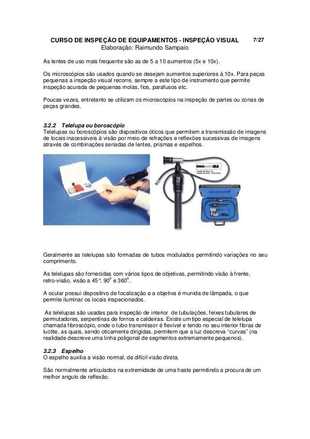 94943166eef3a Apostila de Exame Visual - Curso de Inspeção de Equipamentos