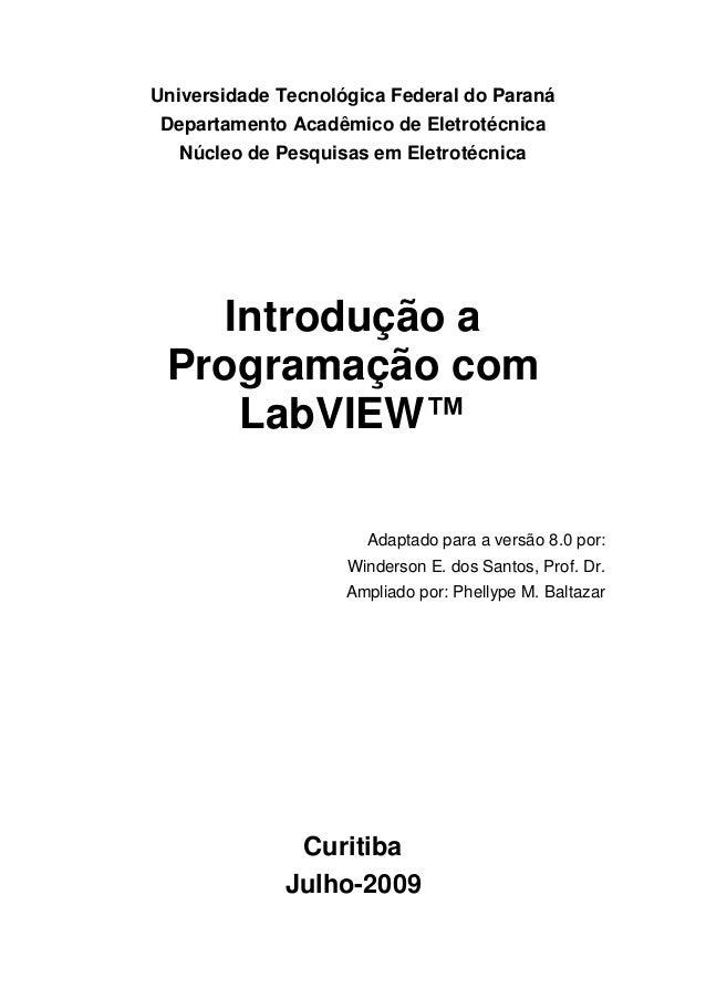 Universidade Tecnológica Federal do Paraná Departamento Acadêmico de Eletrotécnica Núcleo de Pesquisas em Eletrotécnica In...