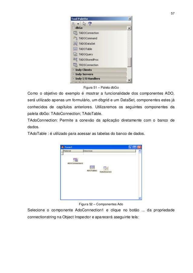 57                                Figura 51 – Paleta dbGoComo o objetivo do exemplo é mostrar a funcionalidade dos compone...