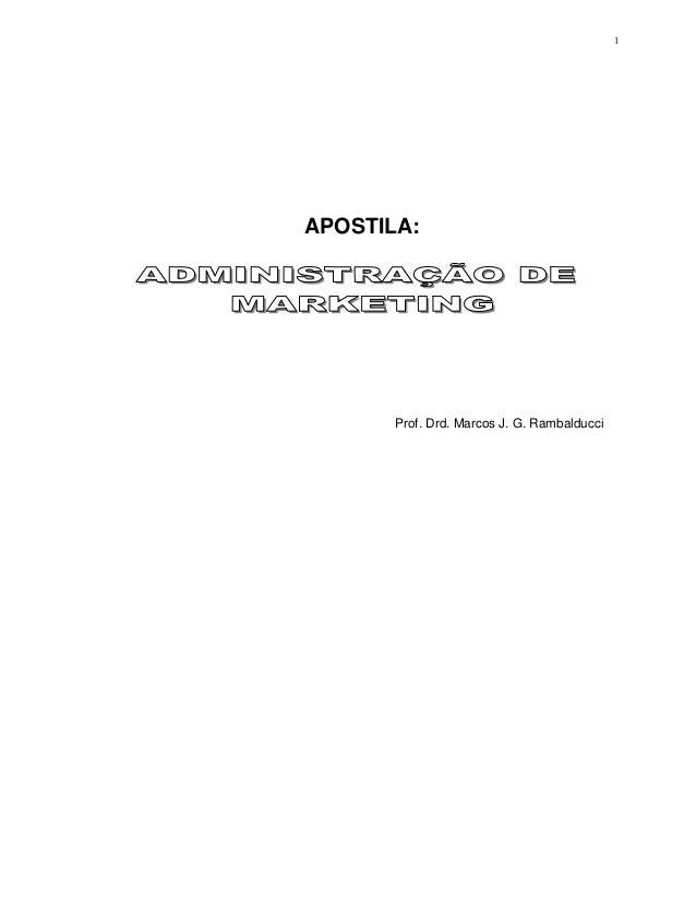 1APOSTILA:       Prof. Drd. Marcos J. G. Rambalducci