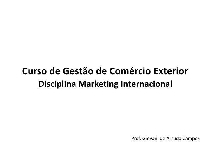 Apostila de marketing internacional parte 1