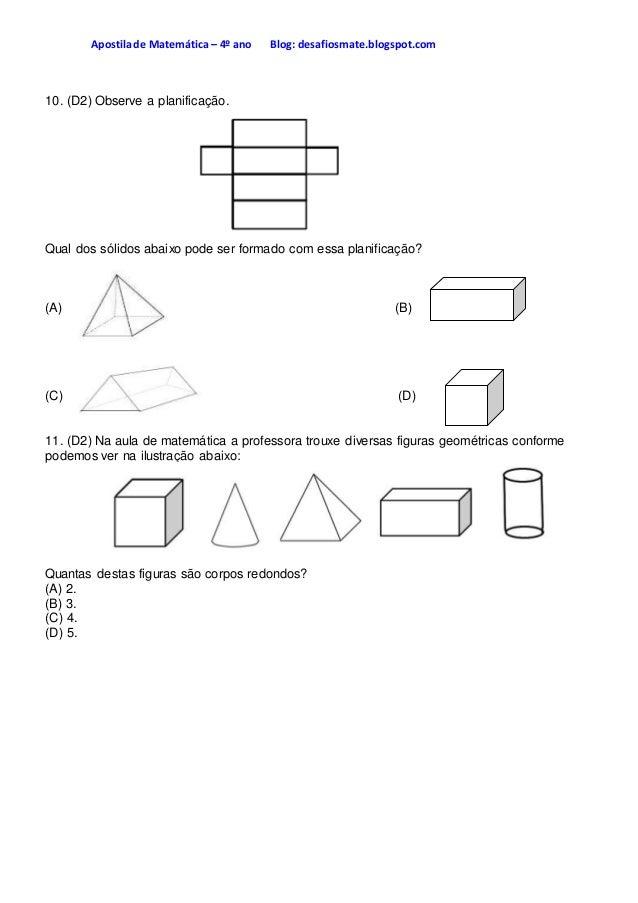 Apostila de matemática apostila 4° ano