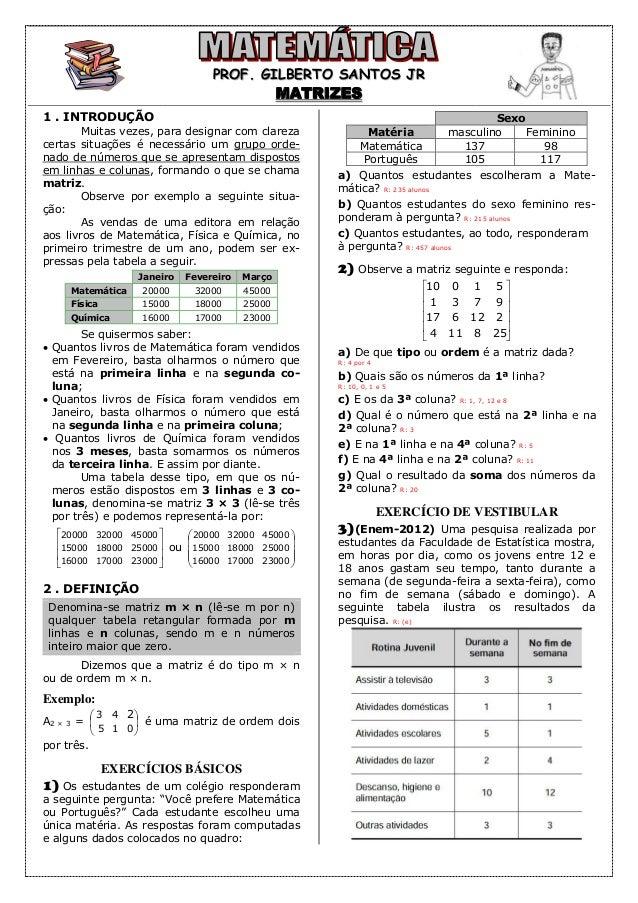 Apostila de matrizes (9 páginas 9bf7f3d5d8a9e