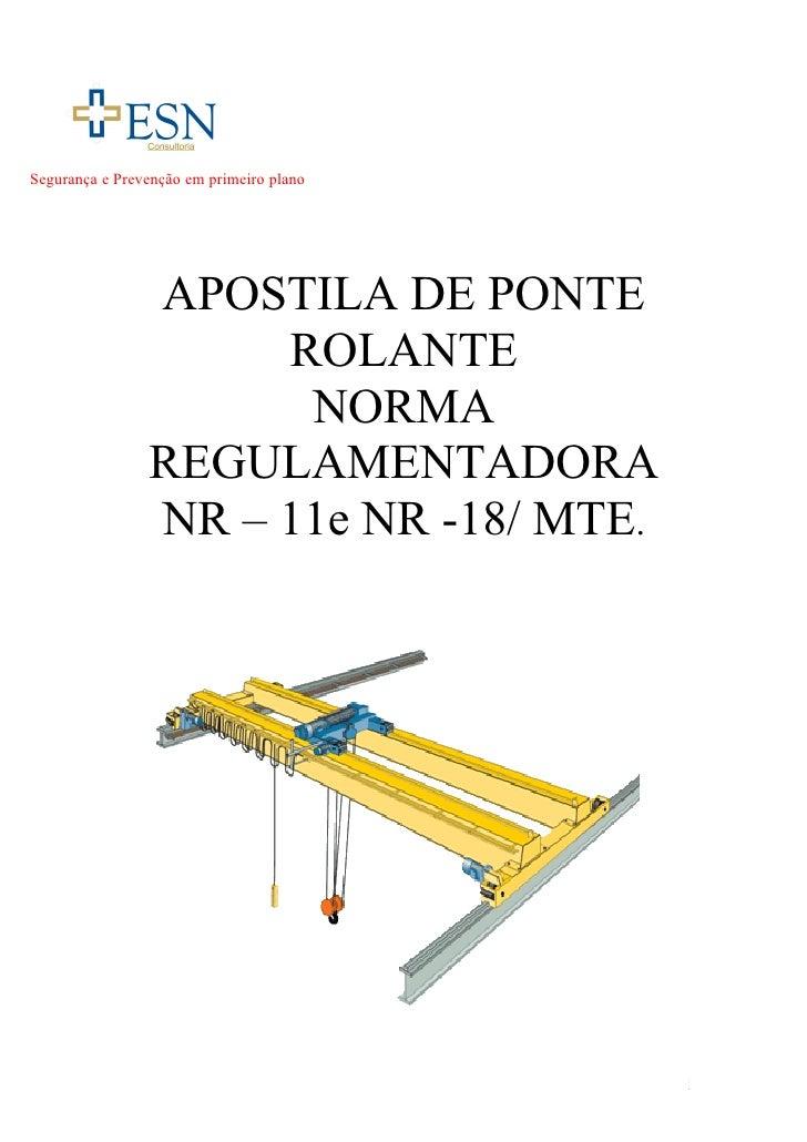 Segurança e Prevenção em primeiro plano                APOSTILA DE PONTE                     ROLANTE                      ...