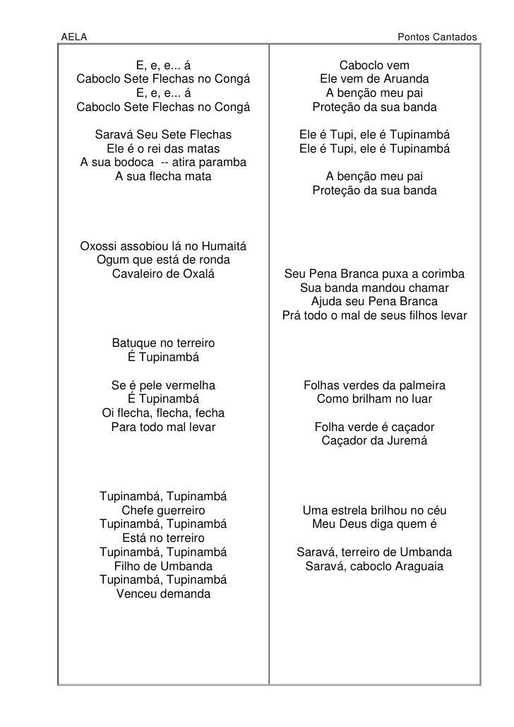 UMBANDA CABOCLO PONTOS BAIXAR DE