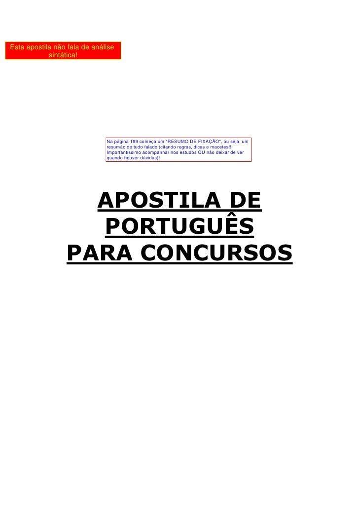PORTUGUÊS - www.estudoswebfree.com.br