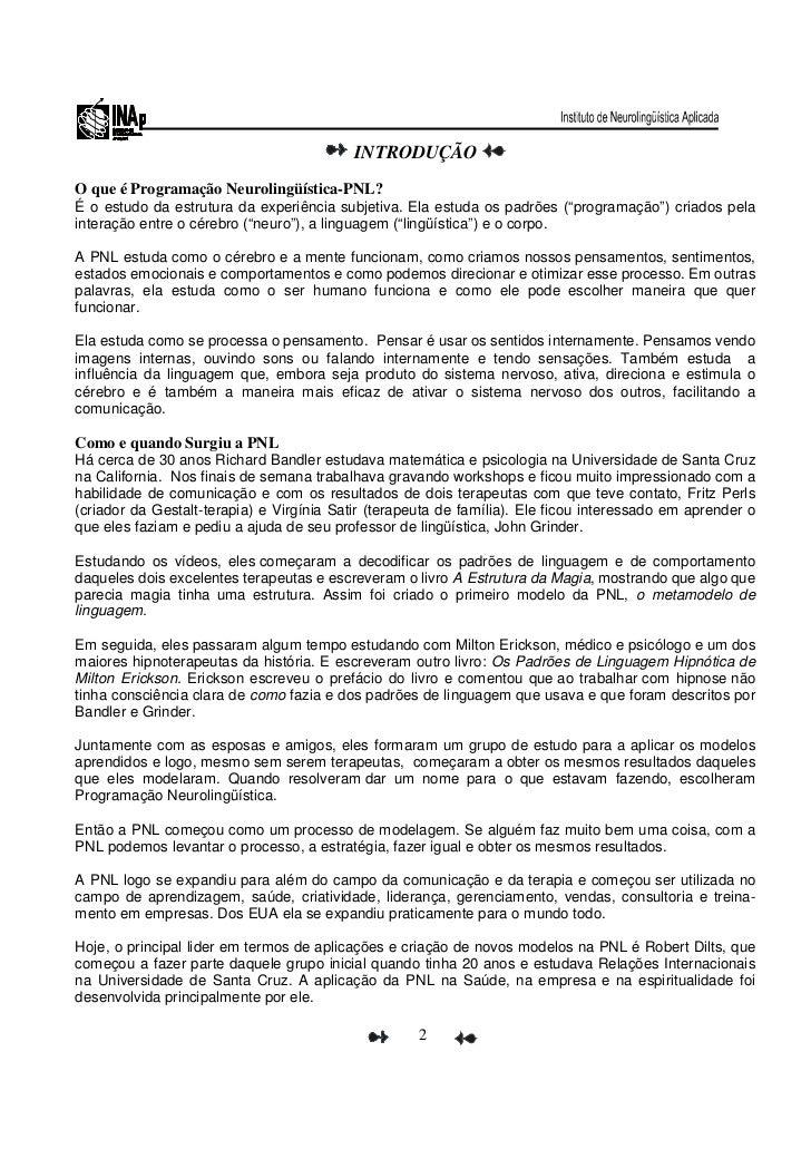 Apostila de programaçao neurolinguistica   lair ribeiro - pnl(2) Slide 2