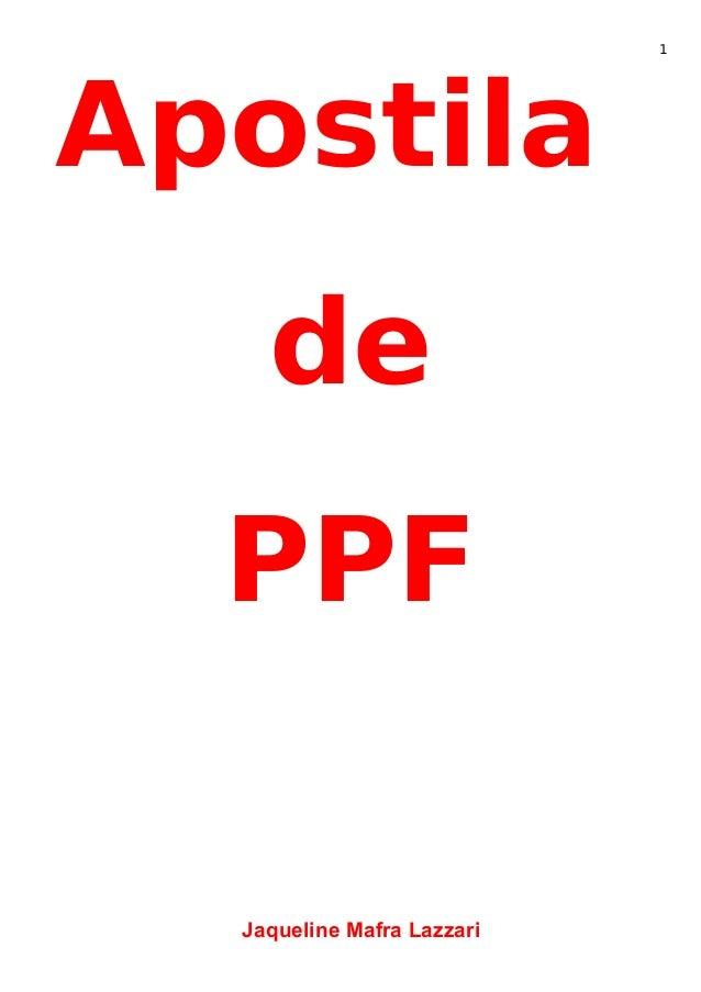 Apostila de PPF Jaqueline Mafra Lazzari 1