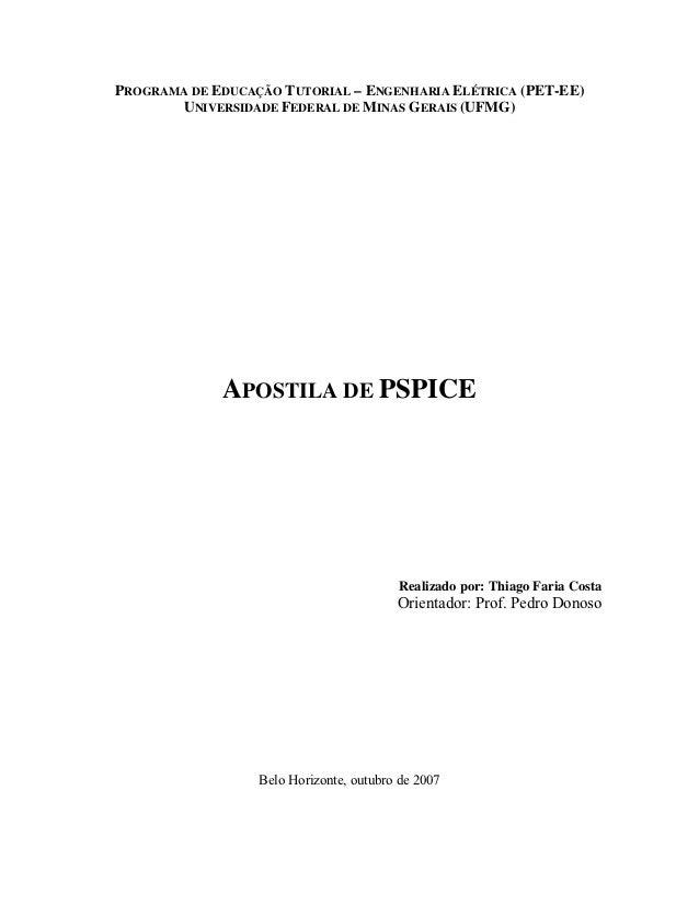 PROGRAMA DE EDUCAÇÃO TUTORIAL – ENGENHARIA ELÉTRICA (PET-EE)       UNIVERSIDADE FEDERAL DE MINAS GERAIS (UFMG)            ...