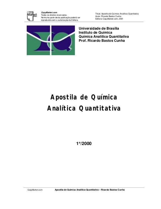 CopyMarket.com                                                               Título: Apostila de Química Analítica Quantit...