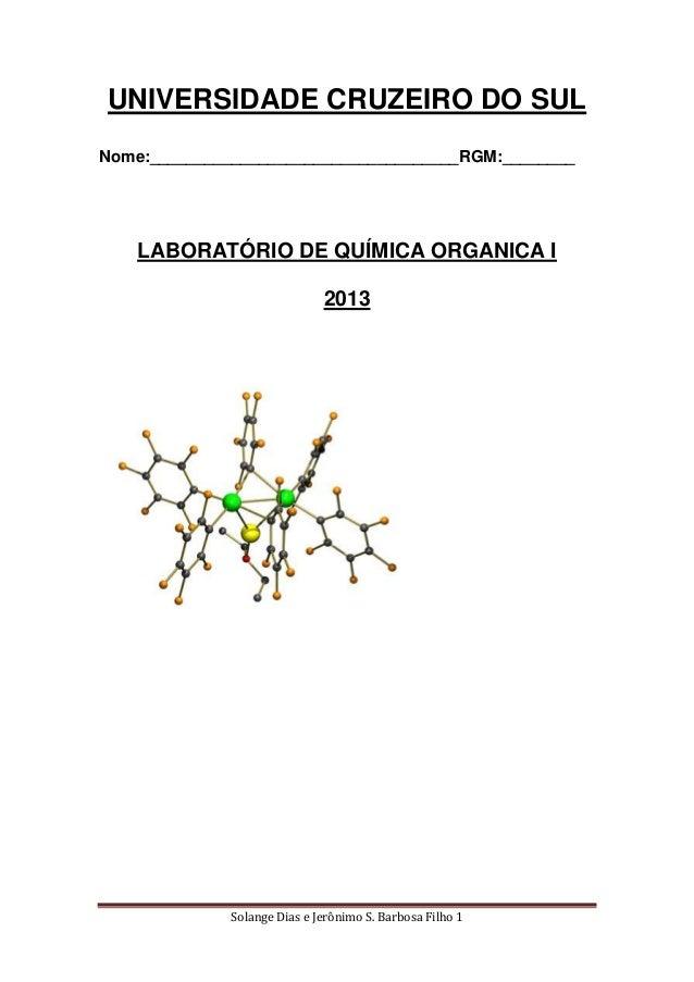 Solange Dias e Jerônimo S. Barbosa Filho 1UNIVERSIDADE CRUZEIRO DO SULNome:__________________________________RGM:________L...