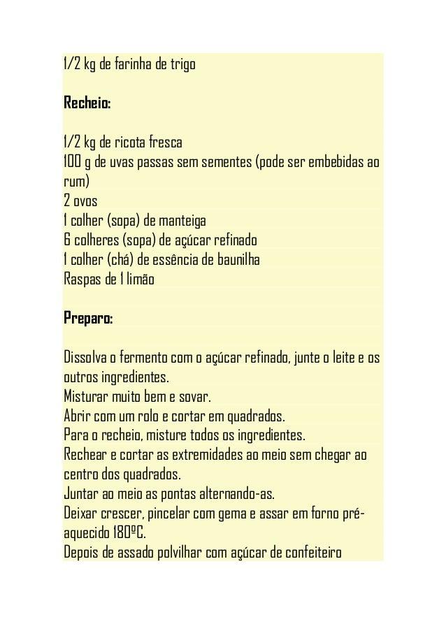 Apostila de receitas diversas dos cadernos de mab davilla