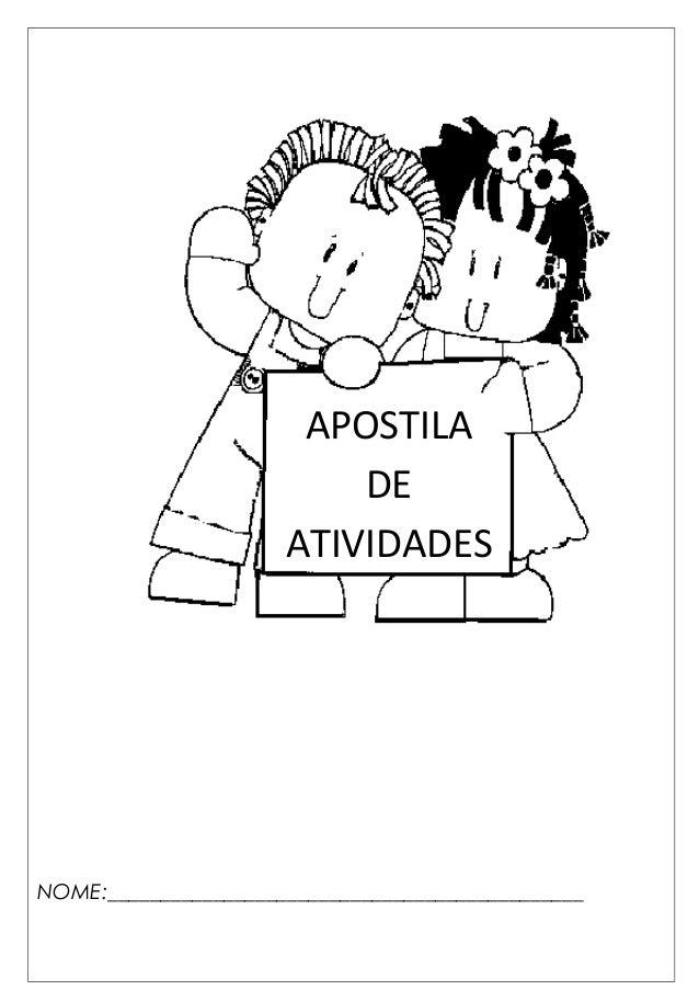 NOME:_____________________________________________ APOSTILA DE ATIVIDADES