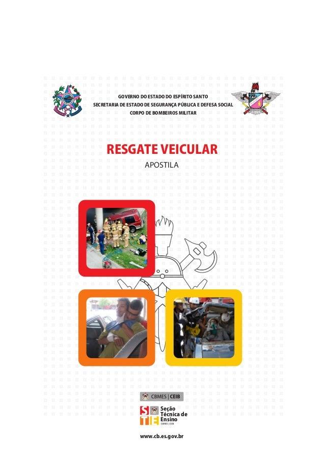 GOVERNO DO ESTADO DO ESPÍRITO SANTO SECRETARIA DE ESTADO DE SEGURANÇA PÚBLICA E DEFESA SOCIAL CORPO DE BOMBEIROS MILITAR A...