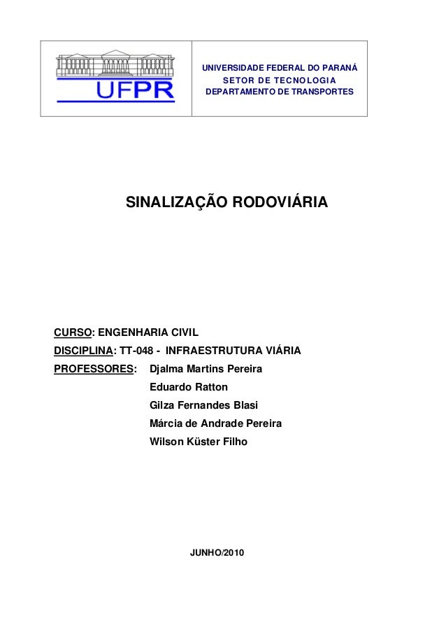 UNIVERSIDADE FEDERAL DO PARANÁ                                 SETOR DE TECNOLOGIA                              DEPARTAMEN...