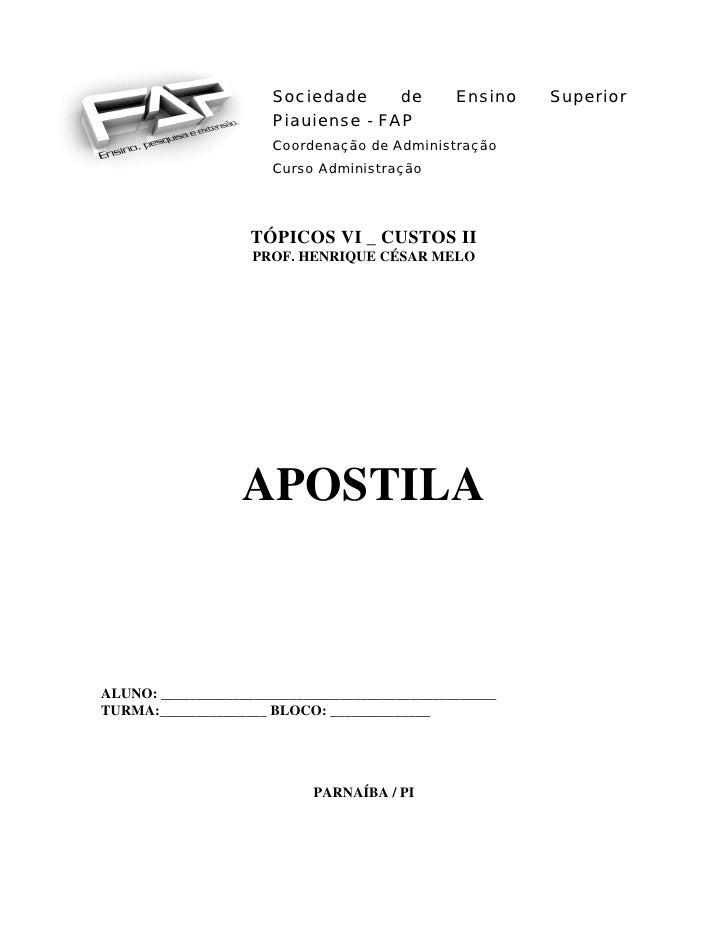 Sociedade     de      Ensino   Superior                                Piauiense - FAP                                Coor...