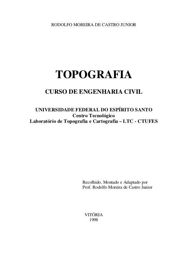 RODOLFO MOREIRA DE CASTRO JUNIOR TOPOGRAFIA CURSO DE ENGENHARIA CIVIL UNIVERSIDADE FEDERAL DO ESPÍRITO SANTO Centro Tecnol...