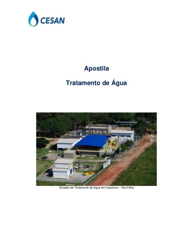 Apostila Tratamento de Água Estação de Tratamento de Água em Caçaroca – Vila Velha