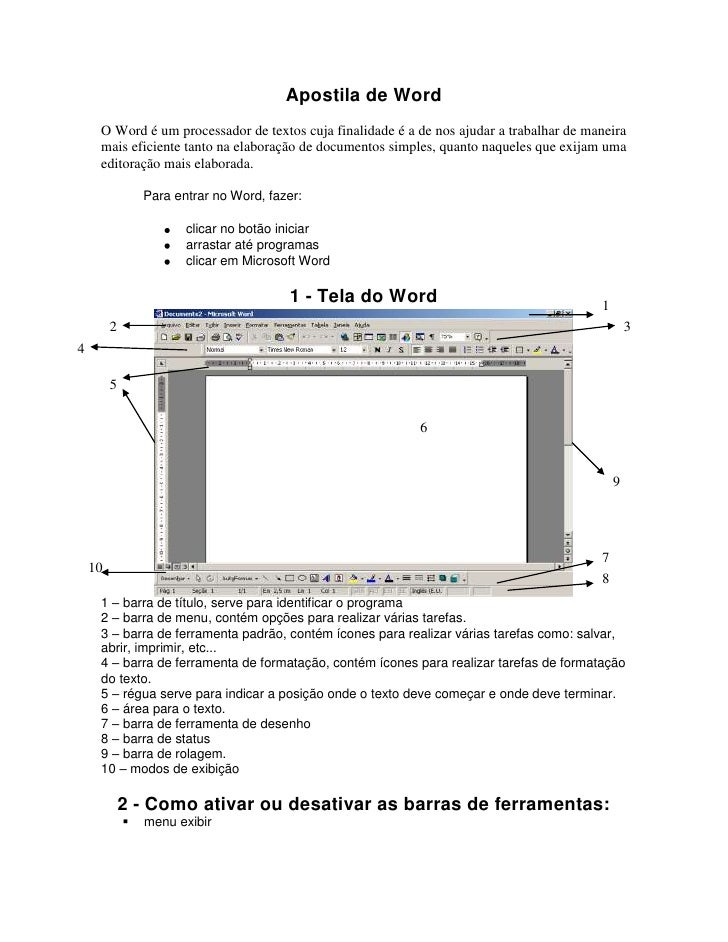 Apostila de Word<br />O Word é um processador de textos cuja finalidade é a de nos ajudar a trabalhar de maneira mais efic...