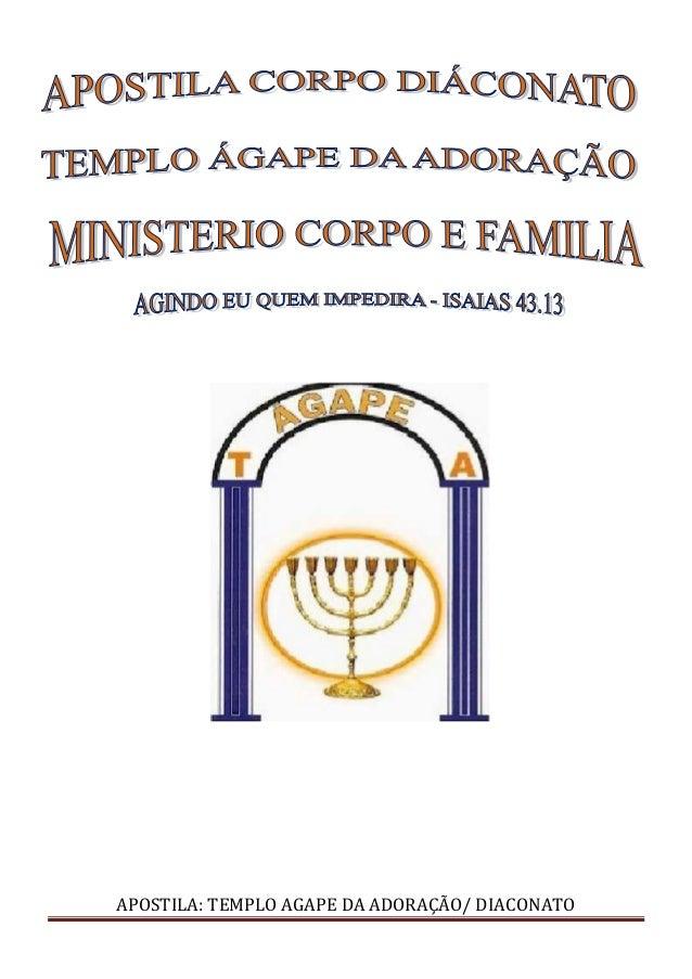 APOSTILA: TEMPLO AGAPE DA ADORAÇÃO/ DIACONATO