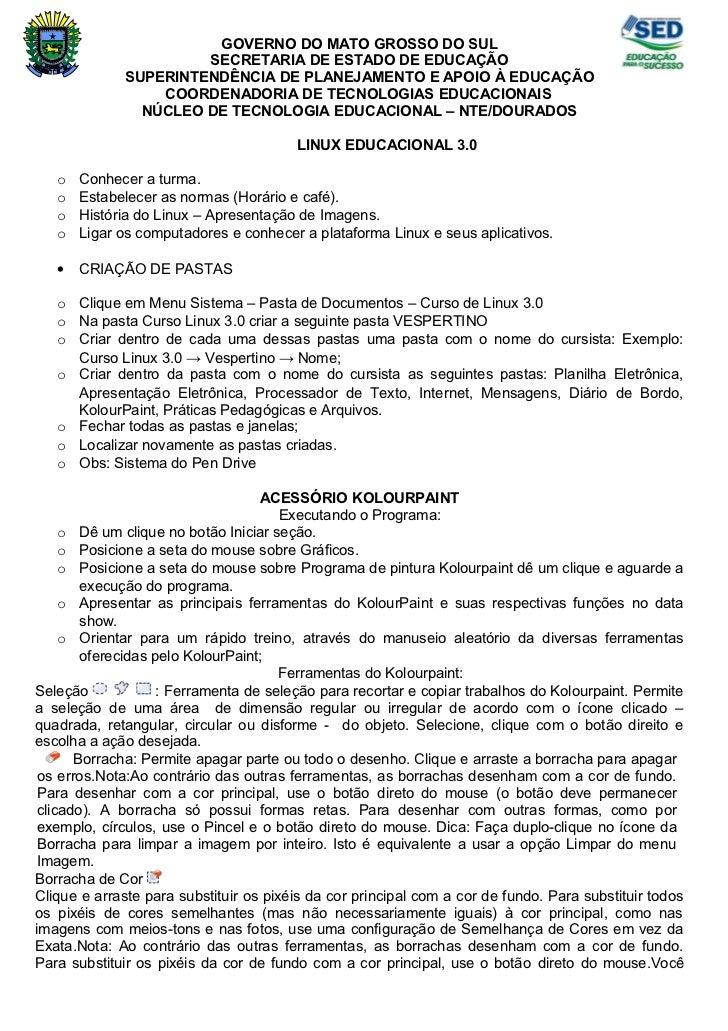 GOVERNO DO MATO GROSSO DO SUL                      SECRETARIA DE ESTADO DE EDUCAÇÃO             SUPERINTENDÊNCIA DE PLANEJ...