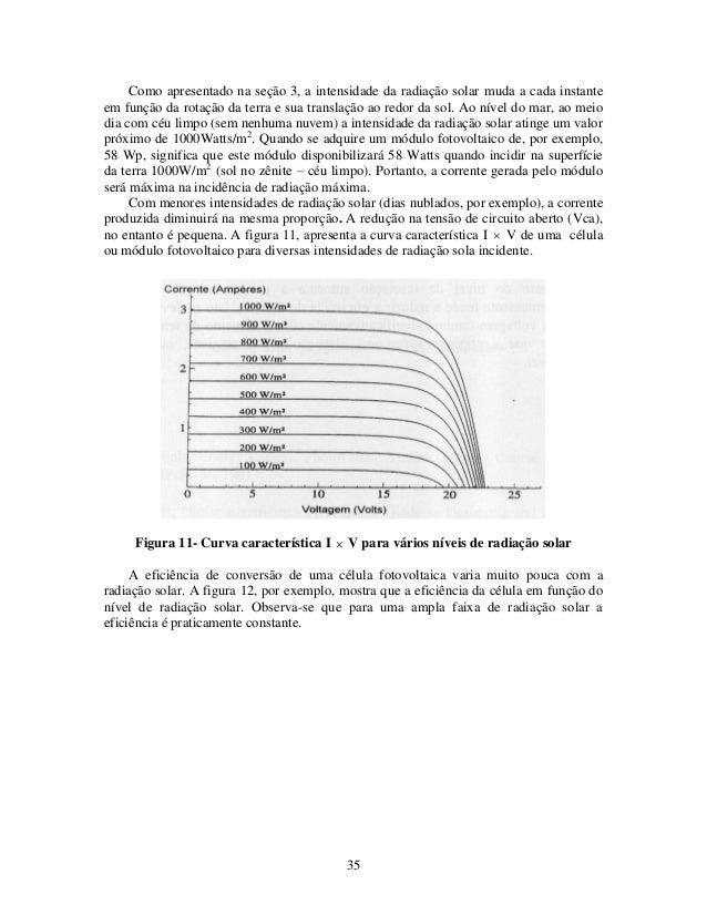 35 Como apresentado na seção 3, a intensidade da radiação solar muda a cada instante em função da rotação da terra e sua t...