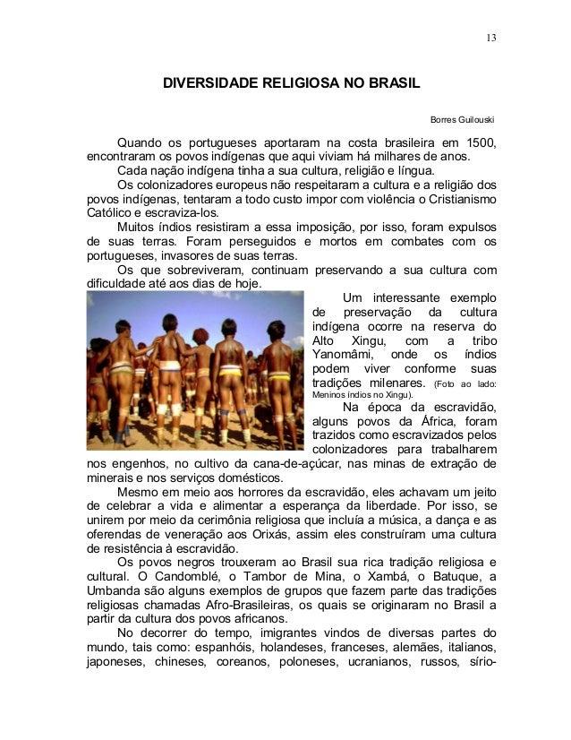 13              DIVERSIDADE RELIGIOSA NO BRASIL                                                                     Borres...