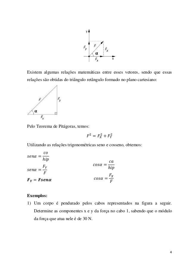 4 Existem algumas relações matemáticas entre esses vetores, sendo que essas relações são obtidas do triângulo retângulo fo...