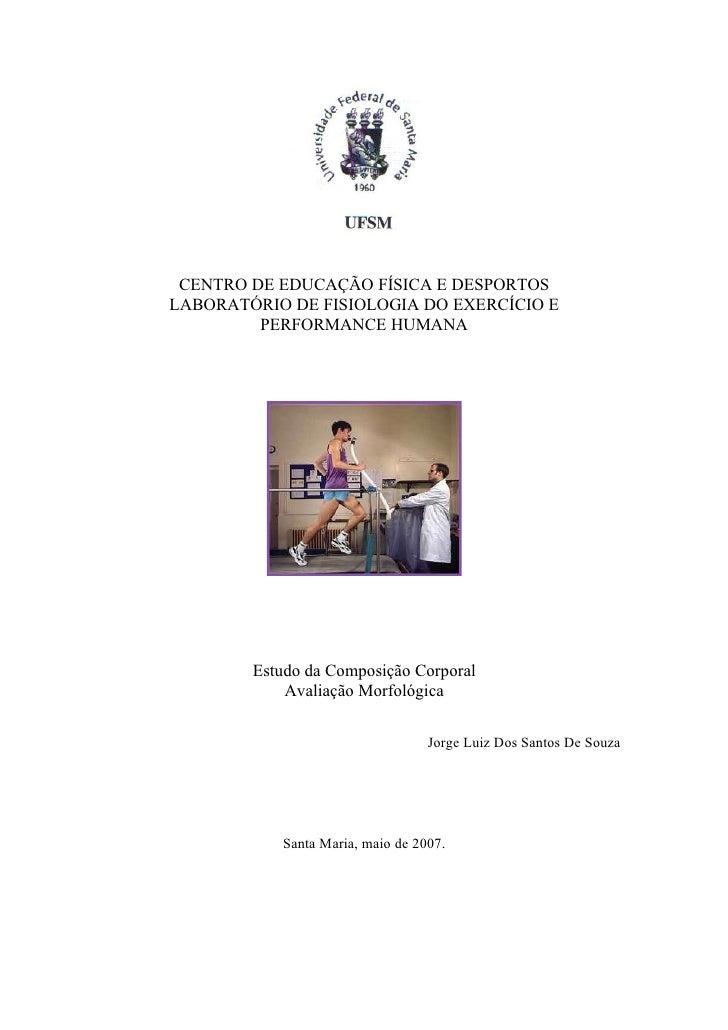 Apostila estudo da composição corporal    avaliação morfológica