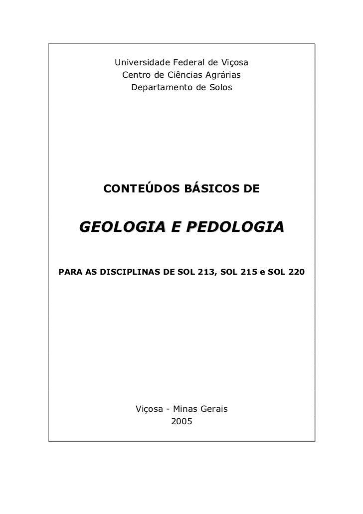 Universidade Federal de Viçosa             Centro de Ciências Agrárias               Departamento de Solos             CON...