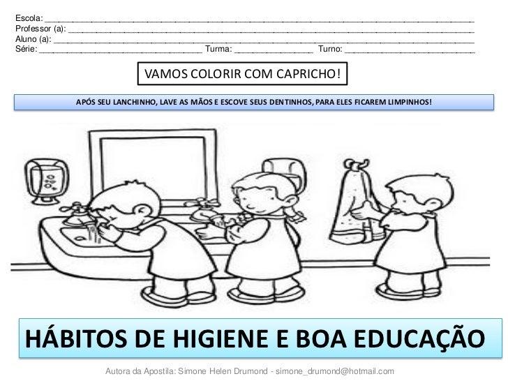 Apostila Habitos De Higiene E Boa Educacao1
