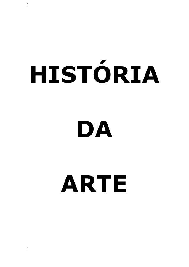 1  HISTÓRIA  DA  ARTE  1