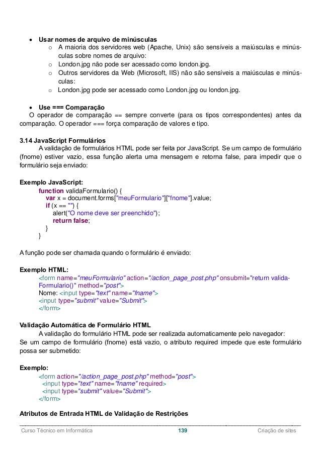 Apostila Criação de Sites I