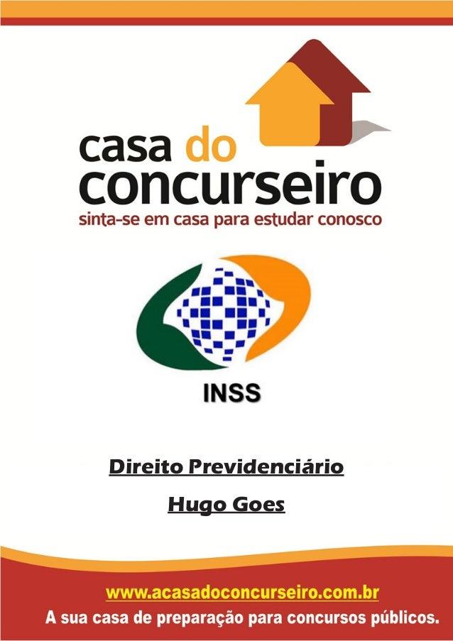 Direito Previdenciário Hugo Goes