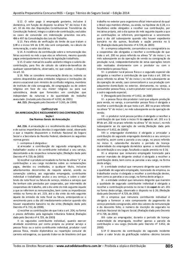 Apostila para Concurso INSS  - Técnico do seguro social