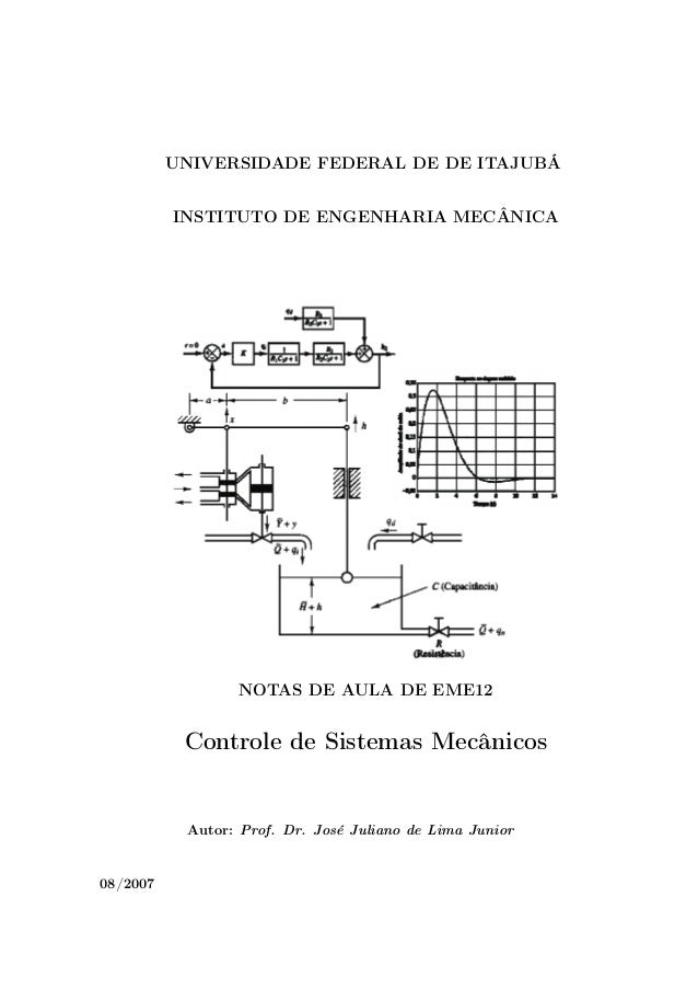 UNIVERSIDADE FEDERAL DE DE ITAJUBÁ          INSTITUTO DE ENGENHARIA MECÂNICA                 NOTAS DE AULA DE EME12       ...