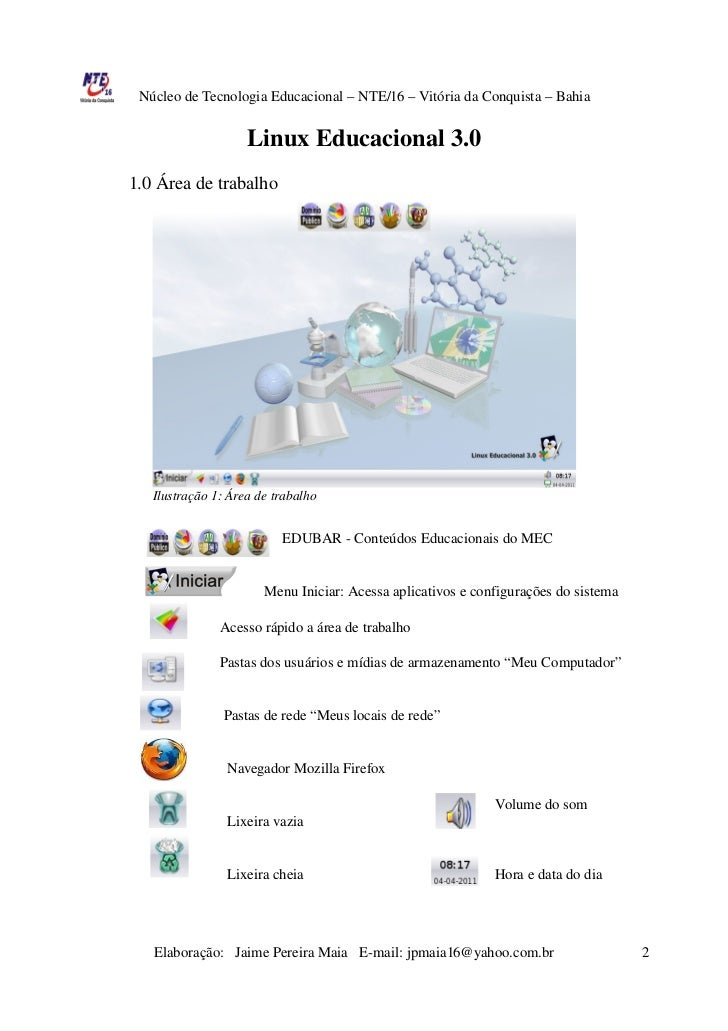 Apostila Linux Educacional 3.0 Slide 2