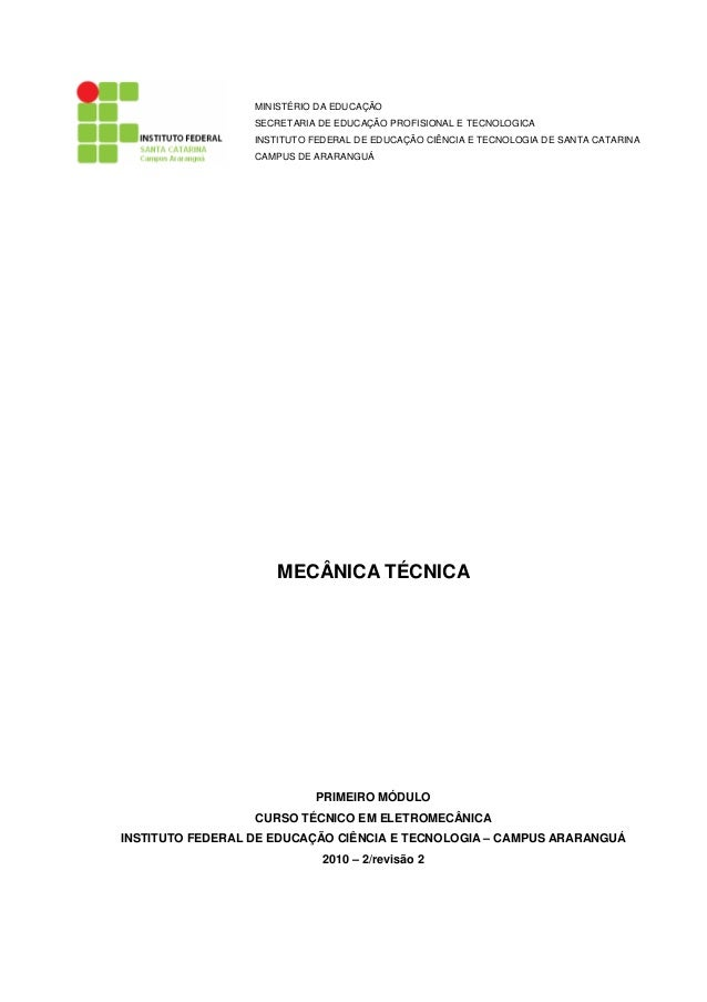 MINISTÉRIO DA EDUCAÇÃO SECRETARIA DE EDUCAÇÃO PROFISIONAL E TECNOLOGICA INSTITUTO FEDERAL DE EDUCAÇÃO CIÊNCIA E TECNOLOGIA...