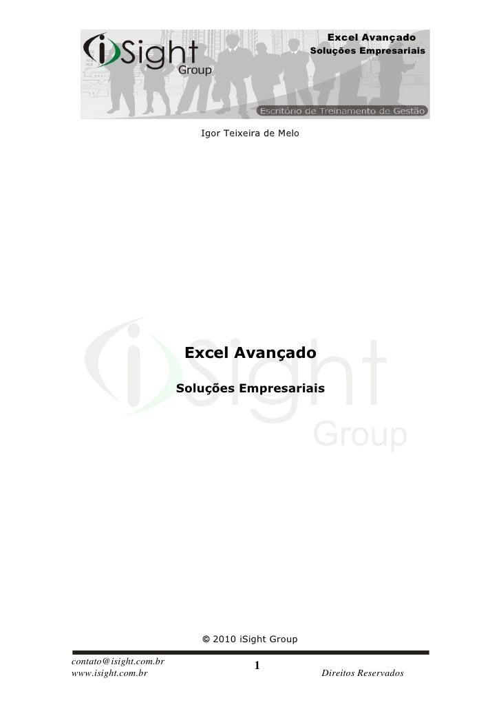 Excel Avançado                                                    Soluções Empresariais                                Igo...