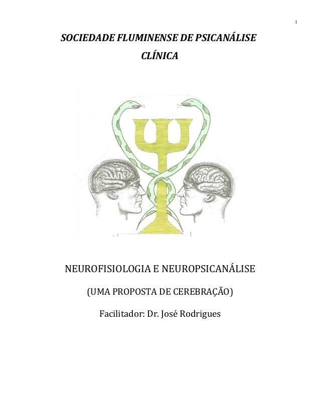 SOCIEDADE FLUMINENSE DE PSICANÁLISE CLÍNICA NEUROFISIOLOGIA E NEUROPSICANÁLISE (UMA PROPOSTA DE CEREBRAÇÃO) Facilitador: D...