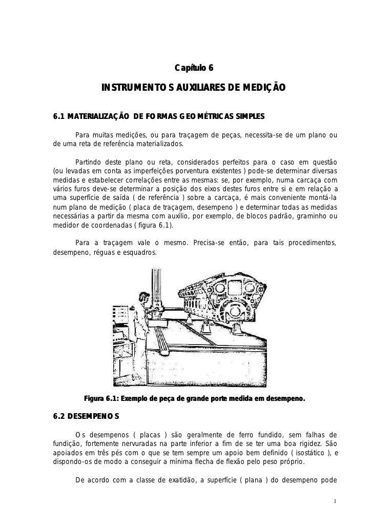 Capítulo 6              INSTRUMENTOS AUXILIARES DE MEDIÇÃO6.1 MATERIALIZAÇÃO DE FORMAS GEOMÉTRICAS SIMPLES      Para muita...