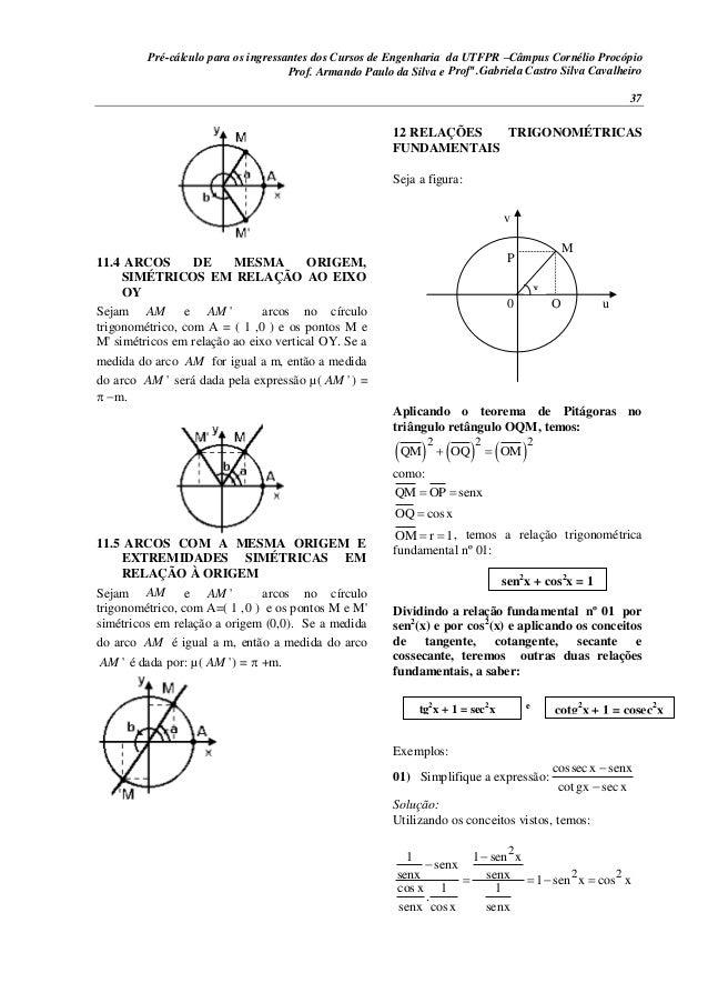 Pré-cálculo para os ingressantes dos Cursos de Engenharia da UTFPR –Câmpus Cornélio Procópio 37 11.4 ARCOS DE MESMA ORIGEM...