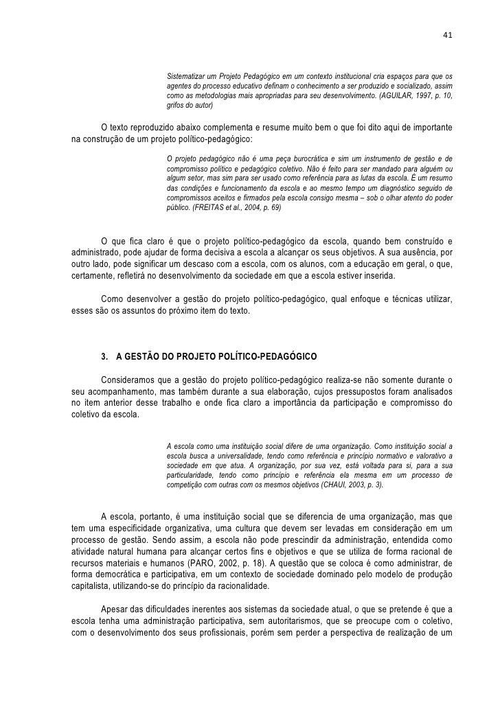 Apostila projeto político pedagógico   fak
