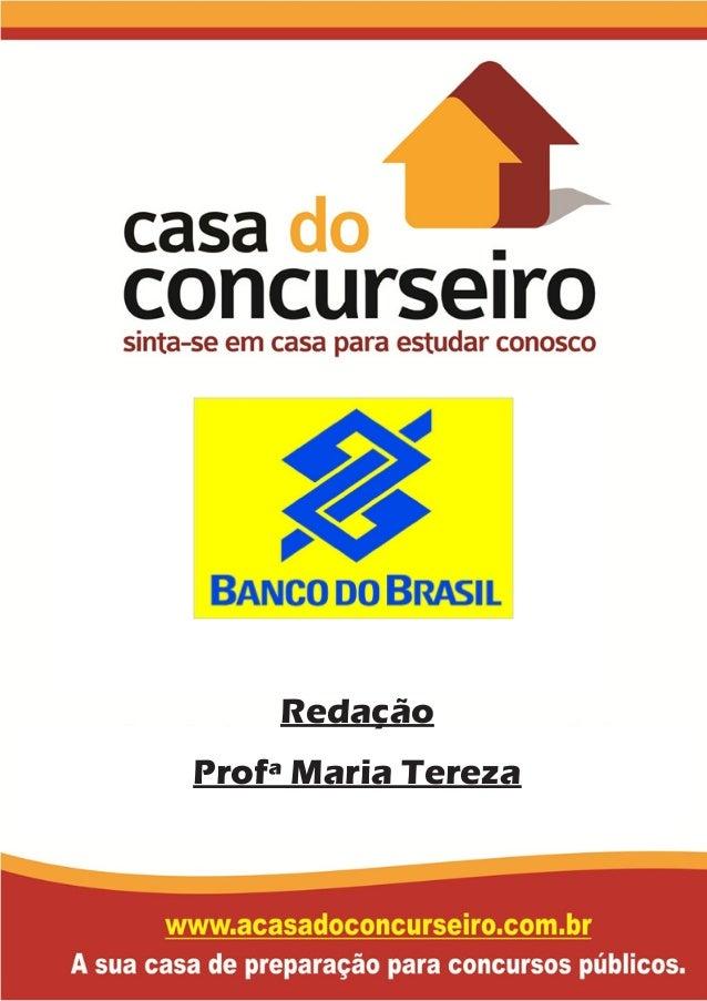 Redação Profª Maria Tereza