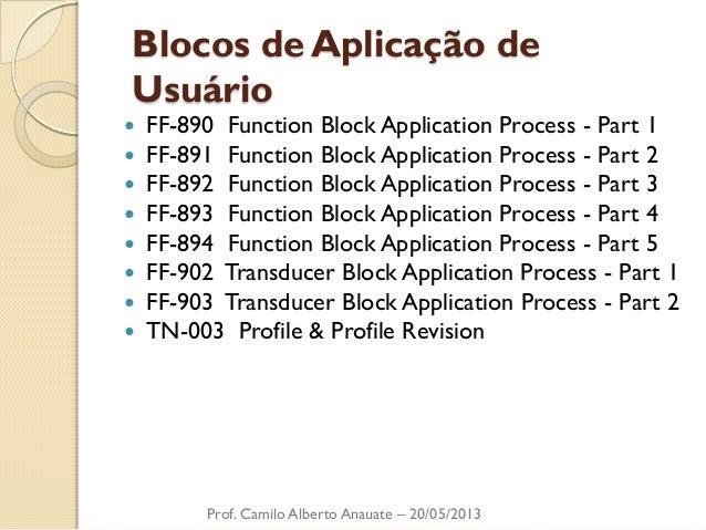 Blocos de Aplicação de Usuário  FF-890 Function Block Application Process - Part 1  FF-891 Function Block Application Pr...
